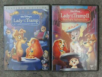 Lady and the Tramp 1-2 (DVD, 2006, 2-Disc Set, Special Edition) Bundle New !!
