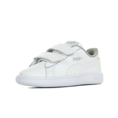 CHAUSSURES BASKETS PUMA unisexe Smash v2 L V Inf taille Blanc Blanche Cuir