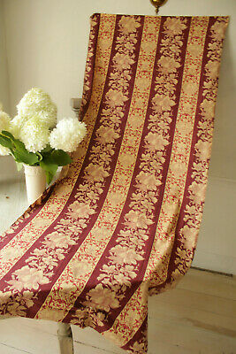 Fabric Antique French 19th century Greyhound dog print madder brown floral 1870