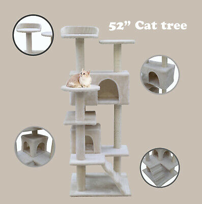 """52"""" Climbing Pet Toy Cat Tree Scratcher Scratching Post House Play Kitty Rest"""