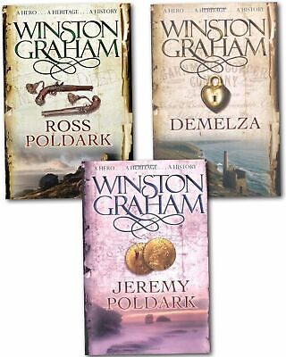 Winston Graham Poldark Series Collection Set A Novel of Cornwall Volume 1 to 3