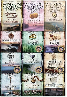 Winston Graham Poldark Series Books Collection Set 12 books A Novel of Cornwall