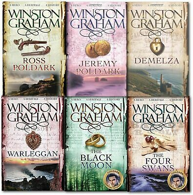 Winston Graham Poldark Series Collection Set A Novel of Cornwall Volume 1 to 6