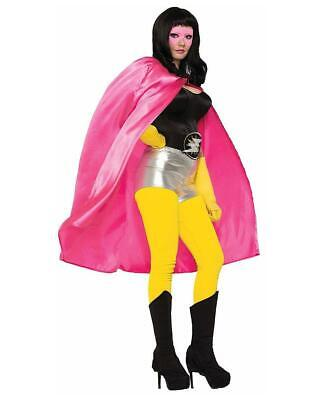 Superhéros Rose Costume Cape Adulte