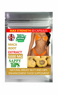 Strongest Maca Root 5000mg Extract, Libido, Big Butt, Breast & Hips Capsules