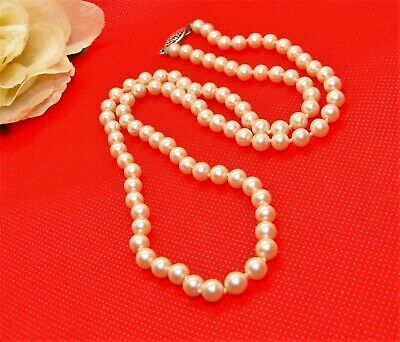 8mm x 15.6mm * JAPAN GLASS VINTAGE PEARL DROPS *6 beads FAUX AGED TOP