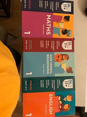 New version GL assesment 11+ Maths p1 , English pack1and Non verbal reasoning p1