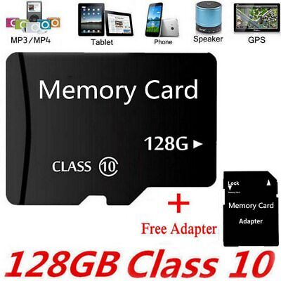 New 128GB Micro SD Memory Card Flash TF Class10 SDXC SDHC Card + Adapter