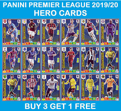 PANINI ADRENALYN PREMIER LEAGUE 2019/20 HERO cards