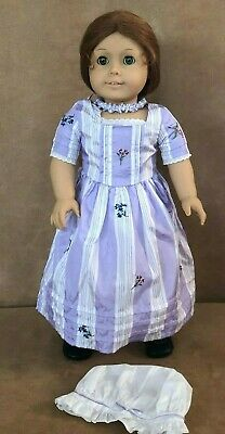 Felicity Pleasant Company American Girl Doll Meet lavender dress gown choker