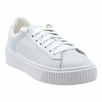 check out 31409 3bb94 PUMA BASKET PLATFORM Perforated Casual Sneakers White - Womens - Size 11 B