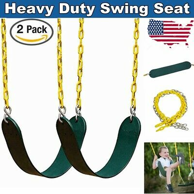 2 Pack Heavy Duty Swing Seat Set Accessories For Adult Kids Child  w/ 2 Chains