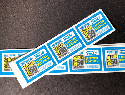5x Replacement Pop Vinyl SDCC 2019 stickers