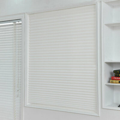 Temporary Blind Pleated Window Covers Blackout Shades Curtain Different Sizes