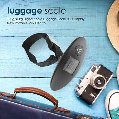 Portable Travel 100g / 40kg LCD Digital Hanging Luggage Scale Electronic Weight