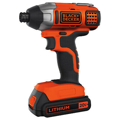 Cordless Impact Driver Lithium-Ion Compact Lightweight Tool Charger Included 20V