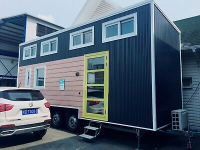 Modern Tiny House on Trailer -Fully Furnished Home - Shipping Included