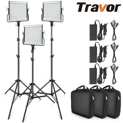 SALE ! 3 IN 1 Travor L4500 Dimmable Camera Video Light Studio Kit + 2m Stand DPD