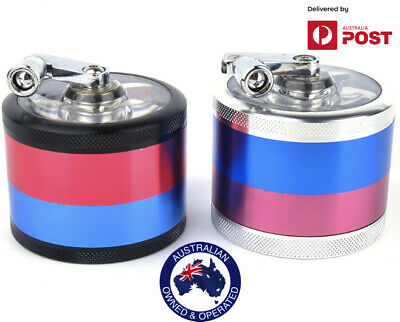 Metal Hand Tobacco Smoke Herb Grinder Muller 4 Layers 60 mm Zinc Alloy New