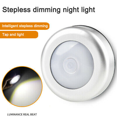 Wireless Battery Powered Touch 6LED Night Light Lamp Wall Wardrobe Dimmable