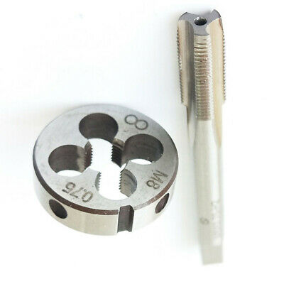 M8 X 0.75mm Tapping And Die Metric Thread Right Hand Tap & Mold Set Kit Silver