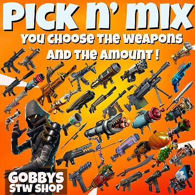 Fortnite Save The World - 3 x 130 MAX PERKS Gun /  Weapon - Choose from list !
