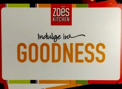 $50 ZOE'S KITCHEN GIFT CARDS *$12 OFF WITH VOLUME PRICING* Free Quickship