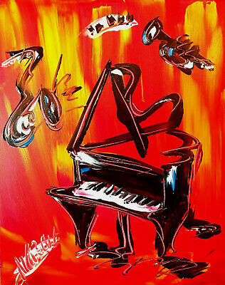 JAZZ MUSIC     Abstract Modern CANVAS Original Oil Painting