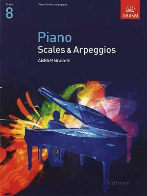 Piano Scales & Arpeggios ABRSM Grade 8 Exam Music Book