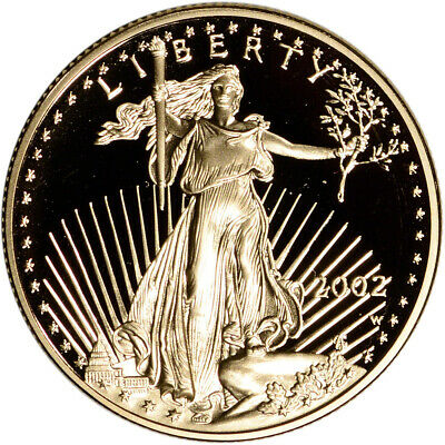 2002-W American Gold Eagle Proof 1/2 oz $25 - Coin in Capsule