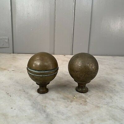 Couple of antique Victorian brass bed knobs