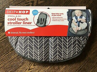 Skip Hop Stroll & Go Cool Touch Stroller Liner in Grey Feather. *NWT*