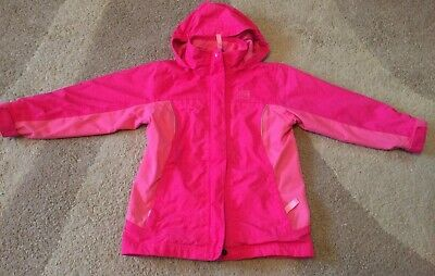 Karrimor Girls Pink Lightweight Hooded Raincoat - Age 5-6 years