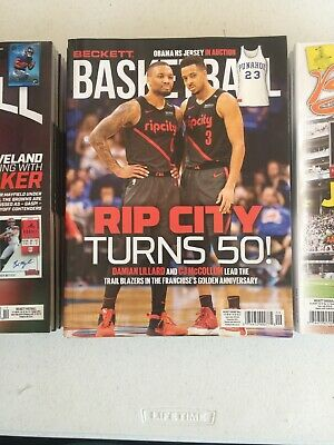 Current Basketball Beckett Price Guide Magazine September 2019 Damian Lillard