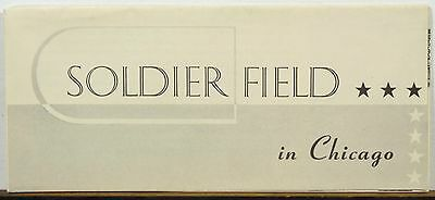 1930's Soldier Field Chicago Illinois informational brochure b