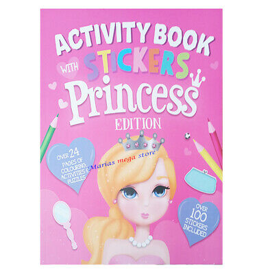 Princess Colouring Book For Kids For Girls Activity Book Learning 100 STICKERS