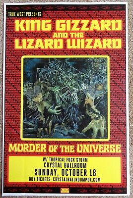 KING GIZZARD AND THE LIZARD WIZARD 2017 Gig POSTER Portland Oregon Concert