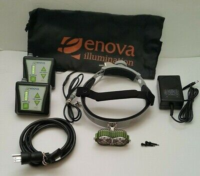 Enova LED Surgical Cordless Headlight Headlamp With Accessories