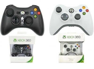 New Black/White Xbox 360 Genuine Wireless Game Controller Gamepad For Windows