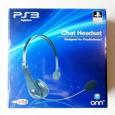 Official PlayStation 3 4 Chat Headset PS3 PS4 Gaming Headphones USB Windows PC