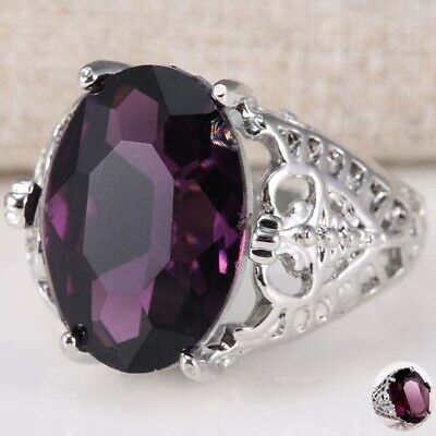 6Ct Huge Engagement Ring Alexandrite Size 6-10 Bridal Natural Wedding 925 Silver