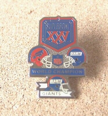 Buffalo Bills vs NY New York Giants SB Super Bowl 25 XXV medium pin