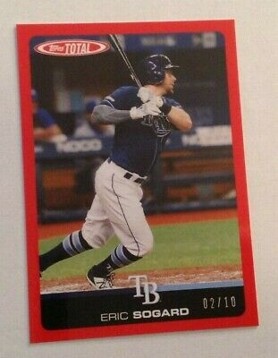 2019 Topps Total Wave 6 RED Parallel ERIC SOGARD #02/10 Made Rays #591