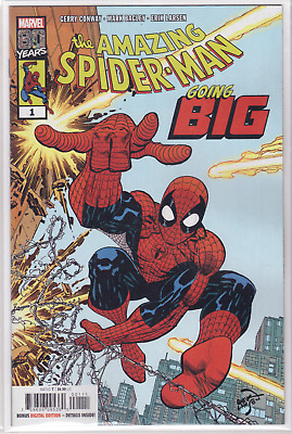 🔥 THE AMAZING SPIDER-MAN GOING BIG #1 Erik Larsen Cover A Marvel Comic NM+ 🔥