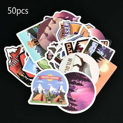 50Pcs Funny Skateboard Stickers Vinyl Laptop Luggage Guitar Decals Decorations
