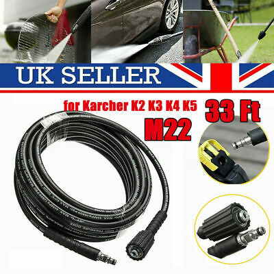 10M High Pressure Washer Hose M22 Jet Water Clean Pipe for Karcher K2 K3 K4 K5//