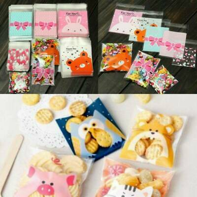100pcs Handmade Cookie Jewelry Bag Cute DIY Gift Bags Plastic Candy Party Pack