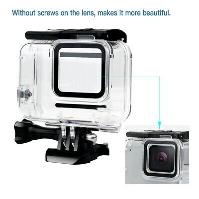 For GoPro Hero7 White/Silver Waterproof Case Diving Protective Housing Shell