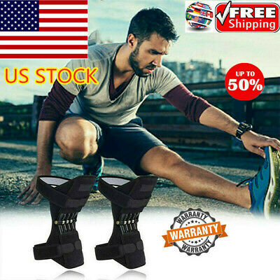 1 Pair Powerleg Knee Joint Support Pads Breathable Non-slip Power Lift Joint USA