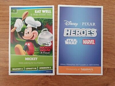 Any 20 Sainsburys Heroes Cards Disney Pixar Pick Your Own Every Card In Stock